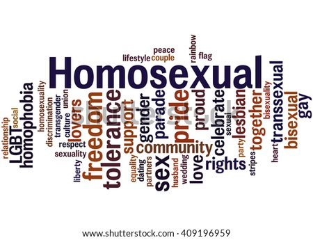 Homosexual, word cloud concept on white background.