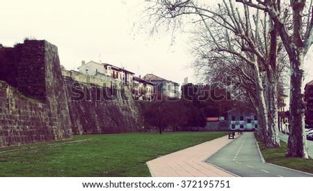 Hondarribia Fuenterrabia Basque Country Spain City Views - stock photo