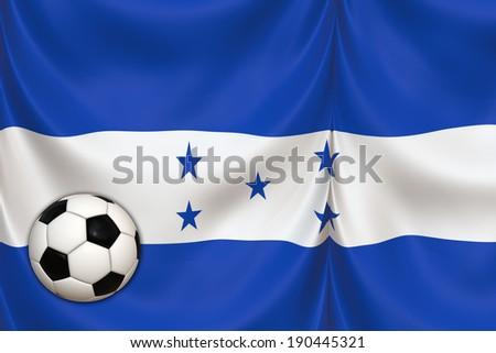 honduras flag and ball - stock photo