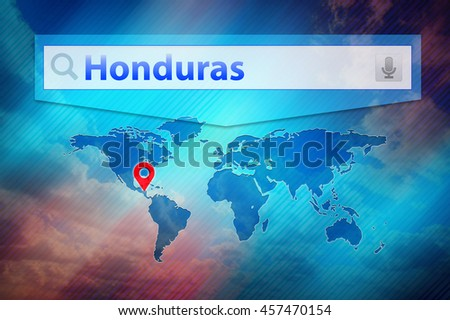Honduras place on world map red stock illustration 457470154 honduras place on the world map red pin mark honduras location on the global map gumiabroncs Images