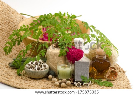 Honey and Moringa Soap - stock photo