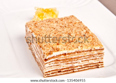 Honey cake - stock photo