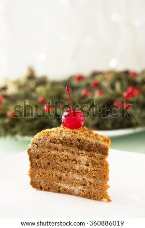 Honey cake. - stock photo