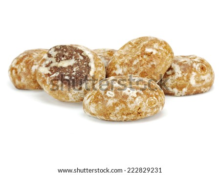 Honey cakes in glaze on a white background   - stock photo