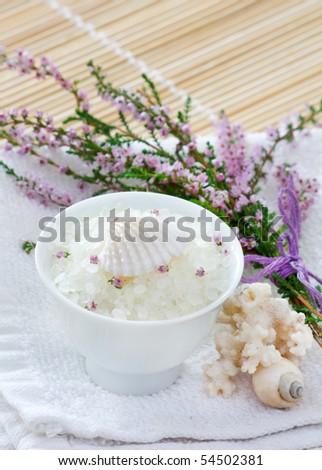 honey calluna with sea salt - stock photo