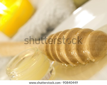 honey cosmetics - stock photo