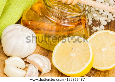 Honey,garlic and lemon.  Natural medicine