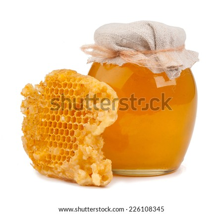 Honey isolated on white background - stock photo