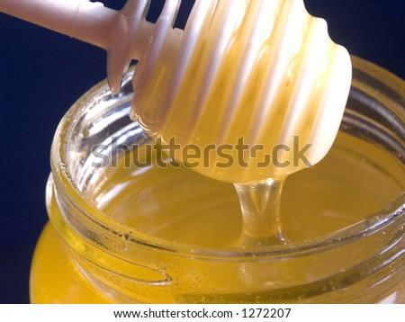 Honey-jar - stock photo
