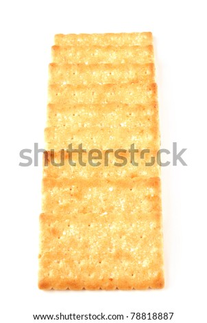Honey-oats coconut biscuit on a white background - stock photo