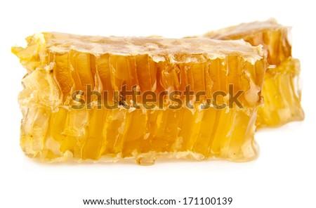 honey on a white background - stock photo