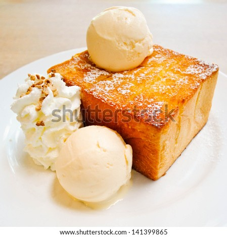 honey toast - stock photo