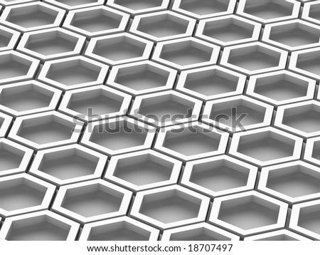 Honeycomb. Background. 3d