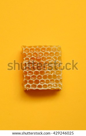 Honeycomb close up image, shot with a macro lens - stock photo
