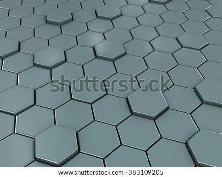 Honeycomb. Full frame background. Network concept - stock photo