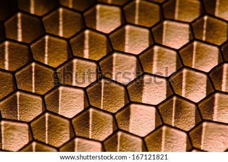 Honeycomb hexagonal pattern - stock photo