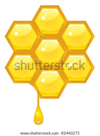 Honeycomb -raster version- - stock photo