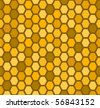 Honeycomb seamless pattern (raster version) - stock vector