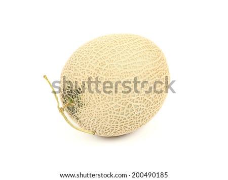 Honeydew Melon/Whole honeydew melon/A photo of a ripe honeydew melon on a white background. - stock photo