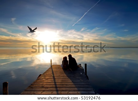 honeymoon - stock photo