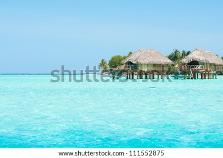 Honeymoon bungalows - stock photo