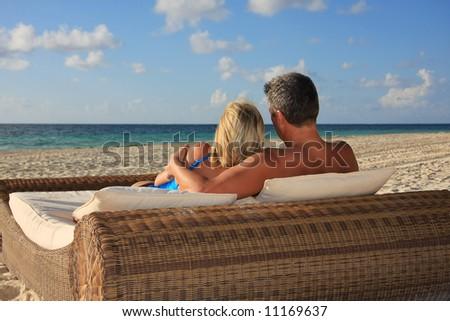 Honeymoon in paradise - stock photo