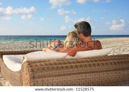Honeymoon in paradise. - stock photo