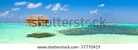 honeymoon suite on the maldives - stock photo
