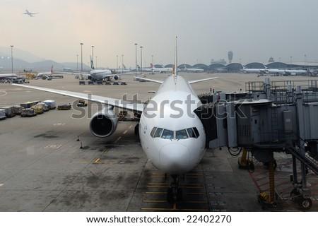 Hong Kong Airport - stock photo