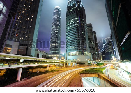Hong Kong at night - stock photo