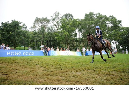 HONG KONG - AUGUST 11: Bordone Susanna of Italy participates in Eventing Cross-Country, Olympic Equestrian Events August 11, 2008 in Hong Kong, China