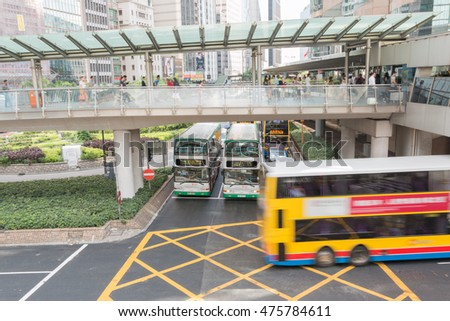 HONG KONG - AUGUST 04: motion blur of Hong Kong traffic August 04, 2015 at Hong Kong.