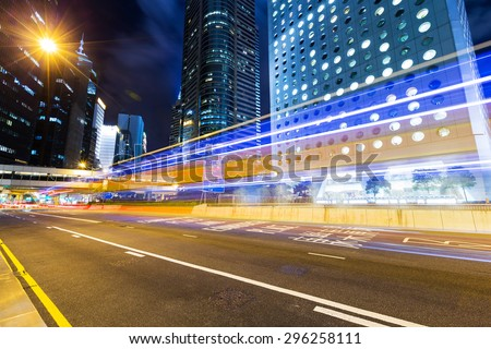 Hong Kong busy road at night