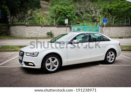 Hong Kong, China April 25, 2012 : Audi A4 test drive on April 25 2012 in Hong Kong. - stock photo