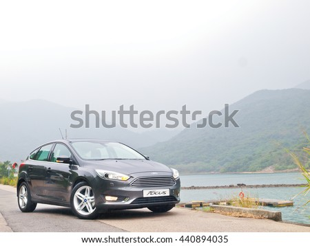 Hong Kong, China Dec 18, 2015 : Ford Focus 2015 Test Drive Day on Dec 18 2015 in Hong Kong.