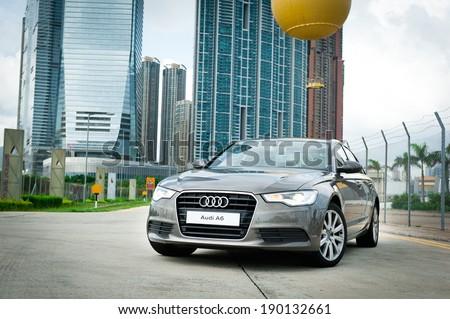 Hong Kong, China June 24, 2011 : Audi A6 test drive on June 24 2011 in Hong Kong. - stock photo