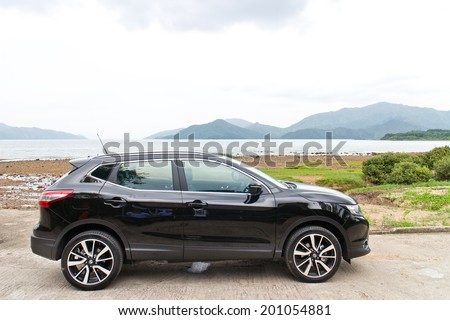Hong Kong, China June 5, 2014 : Nissan Qashqai test drive on June 5 2014 in Hong Kong.