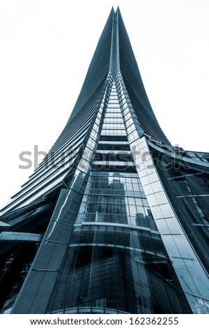 HONG KONG, CHINA - MARCH 14: The International Commerce Centre Tower is a 118-storey, 484 m skyscraper completed in 2010. It is currently the tallest building on March 14, 2013 Hong Kong, China - stock photo