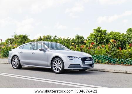Hong Kong, China May 17 2015 : Audi A7 40 TFSI 2015 Test Drive On