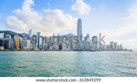 HONG KONG, CHINA - MAY 9: Hong Kong International Finance Centre 2, IFC 2 (415.8 m) on May 9, 2015. Hong Kong's tallest buildings and famous landmarks, completed in 2003.