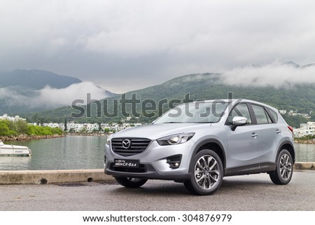 Hong Kong, China May 5 2015 : Mazda CX-5 2.5 2015 Test Drive on May 5 2015 in Hong Kong.