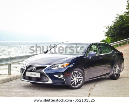 Hong Kong, China Sept 11 2015 : Lexus ES 250 2015 Test Drive Day on Sept 11 2015 in Hong Kong.