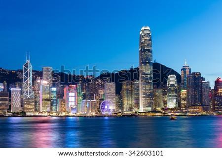 Hong Kong city - stock photo