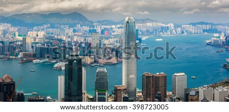 Hong Kong Cityscape 2016 - stock photo