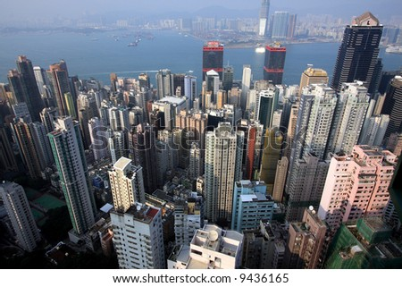Hong Kong Financial Center - stock photo