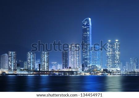 Hong Kong Harbor - stock photo