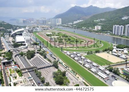 Hong Kong Horse Racing Course - stock photo