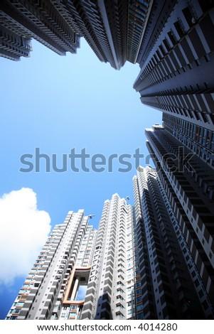 Hong Kong Housing - stock photo
