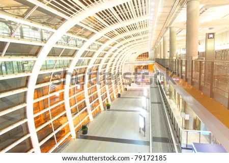 Hong Kong International Airport, one of the busiest airport in the world. - stock photo