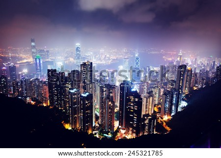 Hong Kong island  - stock photo